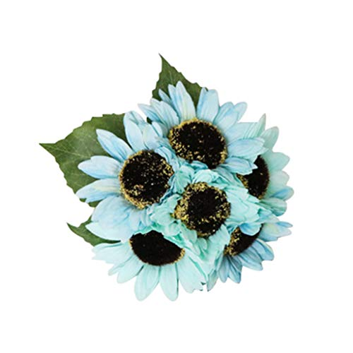 Hniunew Möbel KüNstliche BlumensträUßE Online Topfpflanzen KüNstliche Blume Real Touch Bridal Wedding Bouquet Home Decor Kunstblumen Hortensien Immerpflanze Kunstblume Dekopflanze KüNstlich Deko (B)