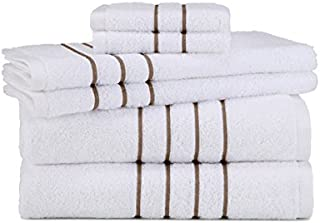 Grand Patrician Hotel Suites 6 Piece Towel Set, Taupe,