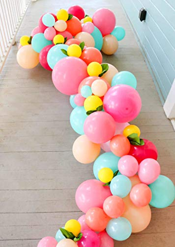 Balloon Garland kit Pink Blue Peach Balloon Arch Tropical Flamingo Party Unicorn Party Wedding Bridal Shower Birthday Party Decoration