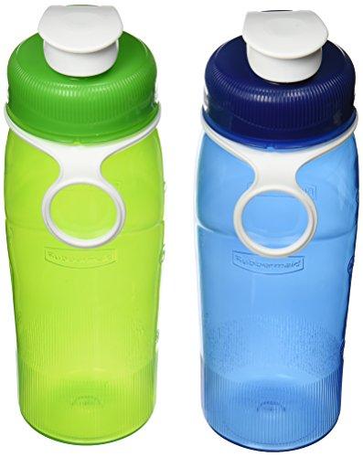 Rubbermaid Refill Reuse, 2 Pack, 20 oz, Chug Bottle Green/Blue