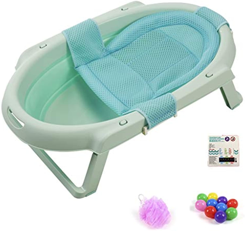TKWyg TKW Babybadewanne, Kinderbadewanne Large Space Portable Bath Bathroom Safety Seat Pad, 4 Farben (Farbe   D)