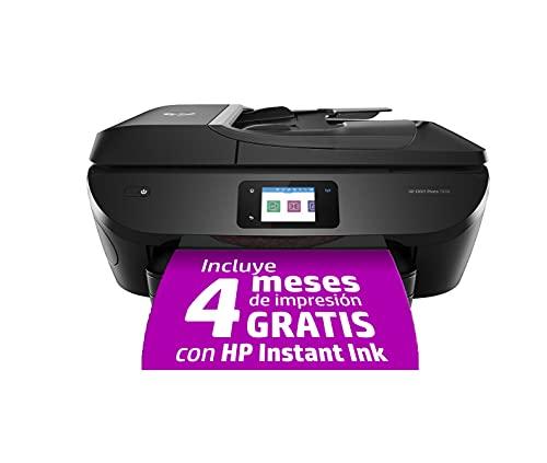 HP Envy Photo 7830 Y0G50B, Impresora Multifunción Tinta A4, Color, Imprime, Escanea, Copia y Fax, Wi-Fi, Ethernet, USB 2.0, HP Smart App, Incluye 4 Meses del Servicio Instant Ink, Negra