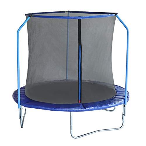 EUGAD Cama Elastica Trampolin Jardín Infantil Hacer Ejercicio y Jugar Mejora la Forma Física Color Azul Ø240cm 0003BC