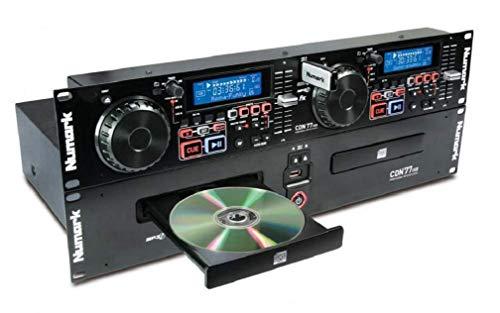Numark CDN77USB - Professioneller Dual USB und MP3-CD-Player für den professionellen DJ-Einsatz mit leistungsorientierten Funktionen, CD / MP3-CD-Unterstützung mit ID3-Tag und Ordner-Erkennung