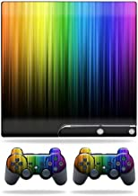 MightySkins Skin Compatible with Sony Playstation 3 PS3 Slim Skins + 2 Controller Skins Sticker Rainbow Streaks