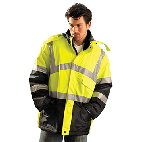 Best Deals! Jacket, Insulated, L, Yellow, 35inL