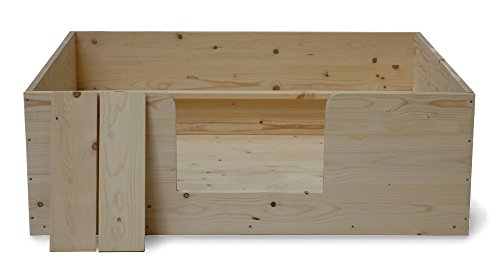 SAUERLAND Wurfkiste 120x100xH40 cm, inkl. Welpenschutz, Sonderserie, Welpenkiste, naturbelassen