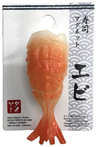 Classificatore di magneti per frigo sushi Daiso Japan Fun per lavagna magnetica (giapponese Nigiri Sushi EBI - Shrimp)