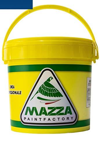 Pittura Al Quarzo Per Muri Interni Ed Esterni Lt 5 Ad Alto Potere Coprente Colorificio Mazza (Blu Navy Mz1120)