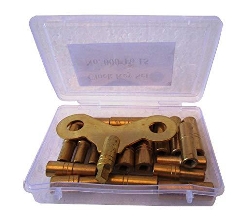 Brass Blessing 5020 Uhrenschlüssel-Set aus Messing, 18 Schlüsseln, ungerade und gleichmäßige Größen