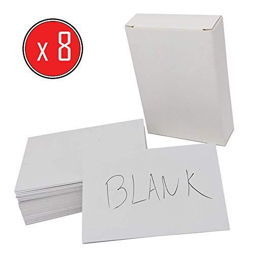 8 x 50 (400) Visitenkarten Blanko - hergestellt aus umweltfreundlicher Recyclingkarte