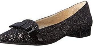 Anne Klein Woman's Loafers Black Glitter 5.5M