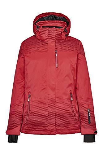 Killtec Damen Tarla Skijacke/Funktionsjacke Mit Abzippbarer Kapuze Und Schneefang, 10.000 Mm Wassersäule, Wasserdicht, Rot, 46