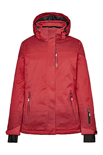 Killtec Damen Tarla Skijacke/Funktionsjacke Mit Abzippbarer Kapuze Und Schneefang, 10.000 Mm Wassersäule, Wasserdicht, Rot, 40