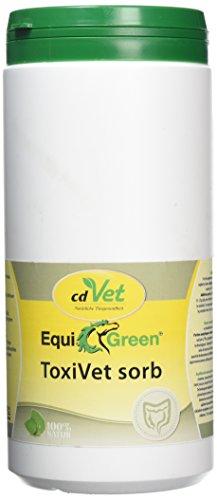 cdVet EquiGreen ToxiVet sorb Futter-Ergänzungsmittel für Pferde 900 g - 100 % natürliche Darmgesundheit mit präbiotischer Hefe