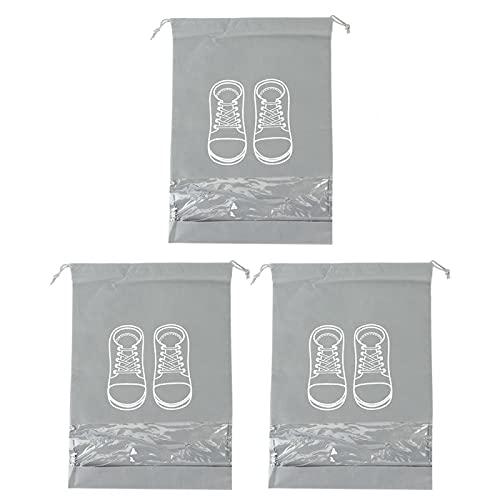 Okuyonic con Ventana de PVC Transparente 3 Piezas Bolsa de Almacenamiento de Zapatos de Gran Capacidad para Almacenamiento en el hogar(No Problem with Large Printing on Cloth Shoe Bag)