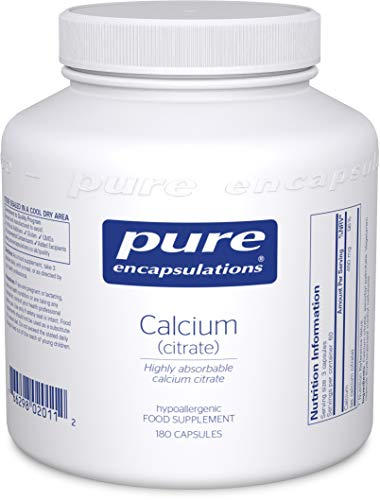 Pure Encapsulations - Calcium (Citrate) - Highly Absorbable Calcium Citrate Supplement - 180 Capsules