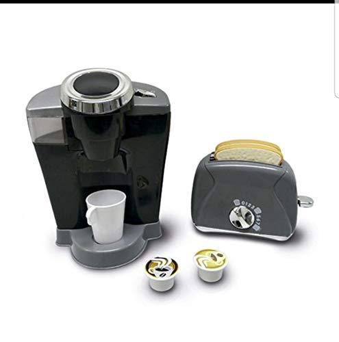 EUREKAKIDS Set cafetera y tostadora para cocinitas para niños