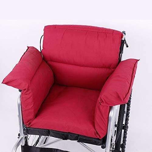 XER Wheelchair Cushion Back Sciatica Relieve Cushion Anti-Decubitus Cushion Breathable Comfort Wheelchair Polyester Cloth Material Cushion, 115100cm