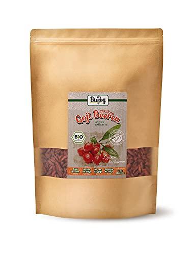 Biojoy Organic Fikiere Goji mkpụrụ osisi, sọlfọ na shuga na-enweghị mkpụrụ ndụ Lycium barbarum (1 n'arọ)