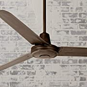 """60"""" Turbina Modern Industrial Outdoor Ceiling Fan Remote Control Oil Rubbed Bronze Damp Rated for Patio Porch - Casa Vieja"""