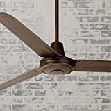60' Turbina Modern Industrial Outdoor Ceiling Fan Remote Control Oil Rubbed Bronze Damp Rated for Patio Porch - Casa...