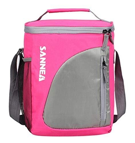 DRBZ Kühltasche für Mittagessen, weicher Kühlrucksack mit hartem Innenfutter, großer isolierter Picknick-Rucksack, weiche Kühltasche für Camping/Grillen/Familien-Aktivitäten im Freien, 9 l (Pink)