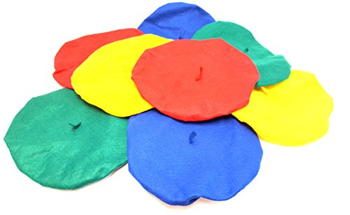 Felt Berets For Children and Teenagers (12 Pack)