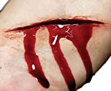 Fancy Me Erwachsene 3D Realistische Special FX Gore blutige Wunden Bites Narben Halloween Make-up Latexfrei Prothetische Transfers, ONE Size, Open Wounds