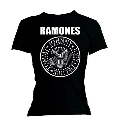 Ramones mujer Presidential Seal Camiseta Large Negro