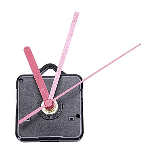 Gfhrisyty 1 Paquete Piezas de Reparación DIY de Manos de Reloj de Pared de Repuesto Mecanismo de Movimiento del Péndulo Motor de Reloj de Cuarzo con Manos Y Kit de Accesorios (Negro & Rojo)