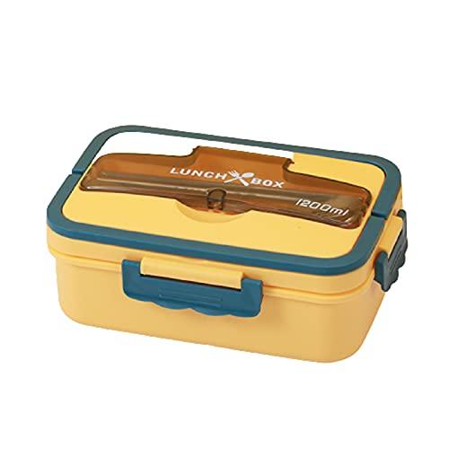 5665 Cajas Bento para Niños y Adultos, Recipiente para Almuerzo a Prueba de Fugas, Fiambrera Bento para Escuela de Trabajo para Adultos, Apto para,Yellow-Nosoupcup