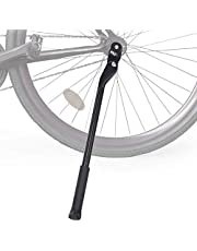 WOTOW Bike Kickstand, Adjustable Aluminum Alloy Bicycle Side Kickstand Quick Release Bike Side Stand Concealed Spring-Loaded Latch Non-Slip Rear Side for 24-27.5 Inch Mountain Bike and 700C 650C