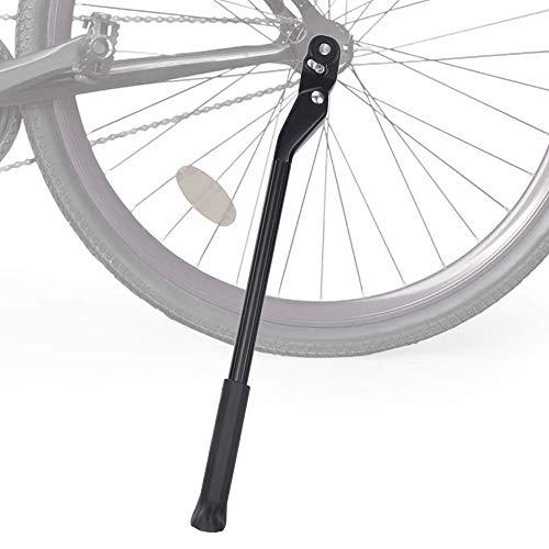 WOTOW Fahrradständer verstellbar Aluminiumlegierung Fahrradseite Ständer Fahrradseitenständer Verdeckte federbelastete Verriegelung rutschfeste Rückseite für 24-27,5-Zoll Mountainbike