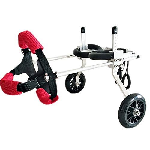 Scooter para Mascotas, Soporte Auxiliar Grande Silla de Ruedas Paralizada Perro discapacitado Aleación de Aluminio Ultra Ligero Implementación común Fácil de Usar Ajustable