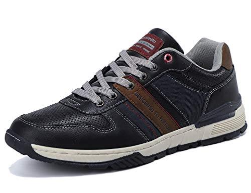 ARRIGO BELLO Sneakers Uomo Scarpe da Ginnastica Eleganti Casual Sportive Trekking Traspiranti Interior all'Aperto Taglia 41-46(Blu, 43)