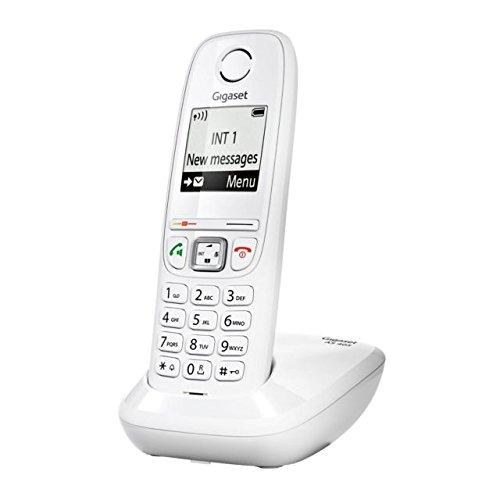 Gigaset AS405 - Teléfono (DECT, 50m, 300m, Color Blanco, Wall/Desk, Auricular)