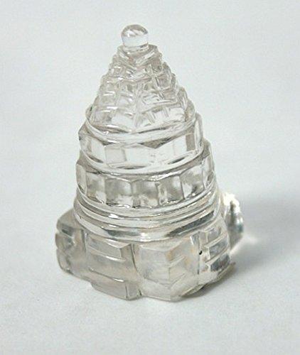 Shri Yantra, Himalayan Clear Quartz Sri, Shree Crystal Healing Energy, Sacred Geometry, with Pouch