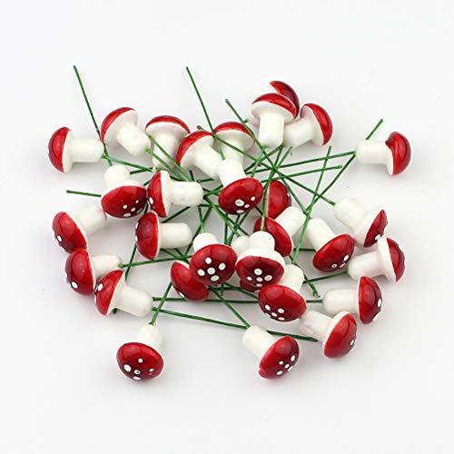 Tinksky 20 mini funghi di schiuma per giardino, decorazione per vasi, bonsai micro paesaggio