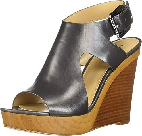Price comparison product image Michael Michael Kors Woman's Josephine Wedge Leather,  Charcoal,  Size 11.0
