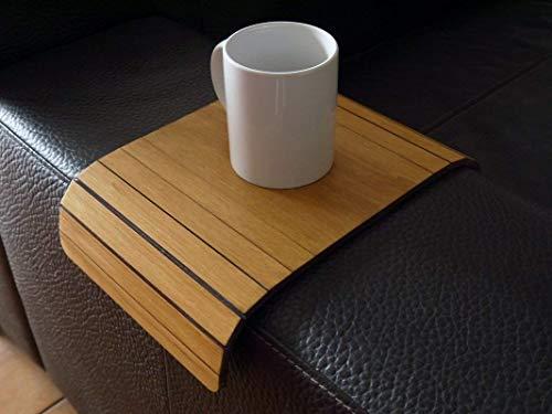 Holz sofa armlehnentisch in vielen farben wie helle nussbaum Armlehnentablett Moderner tisch für couch Klein schleichendes sofatisch Armlehne flexibel tablett Falten couchtisch Kleine tische