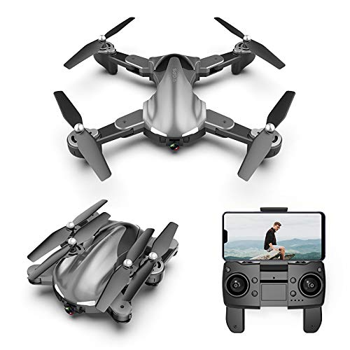 NiGHT LiONS TECH BF19 GPS Drone with 4K Camera for Adults,5G WiFi FPV Live Video Foldable Drone GPS Return Home,Follow Me RC Drone Quadcopter for Beginners,with 2batteries