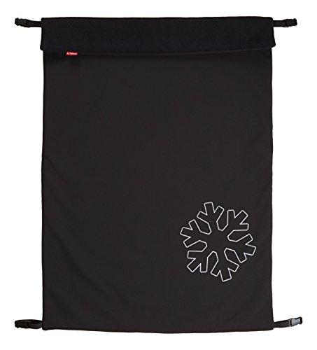 ByBoom - Softshell Decke 70x100 cm Thermo Aktiv; Funktions-/Universal-/Outdoor-Babydecke für Kinderwagen, Buggy, Jogger, Farbe:Schwarz/Schwarz