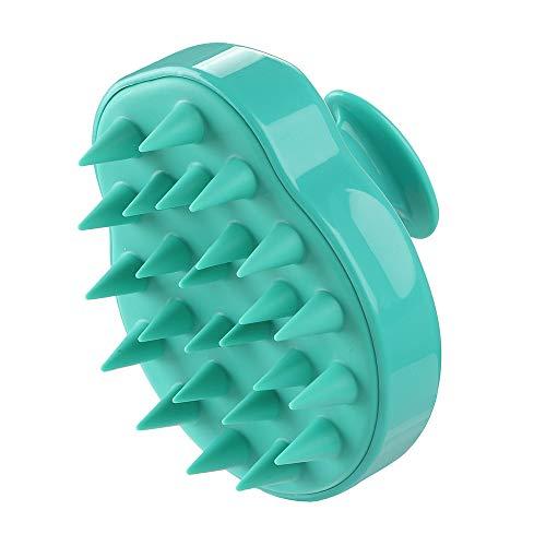 Kopfmassage Bürste,Shampoobürste Haar Reinigung Haarwuchs Hair Scalp Massager Kopfhaut Massage Dusche Kopf, Hals und Körper Massagegerät, Haarmassagegerät für Männer, Frauen, Kinder (Grün)