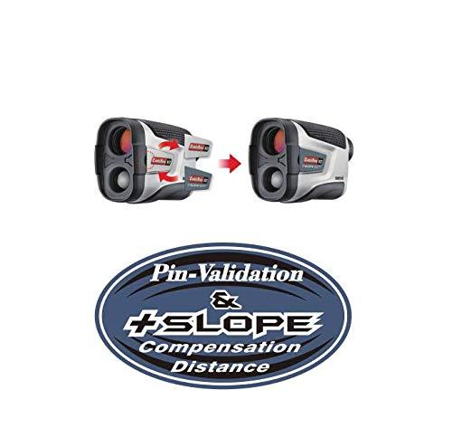 CaddyTek CaddyView V2 Jolt & Slope Golf Laser afstandsmeter met Slope en Jolt functie, zilver, One Size
