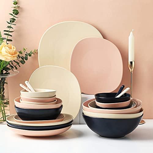 Piatti da pranzo alla moda, servizi da tavola in ceramica,...