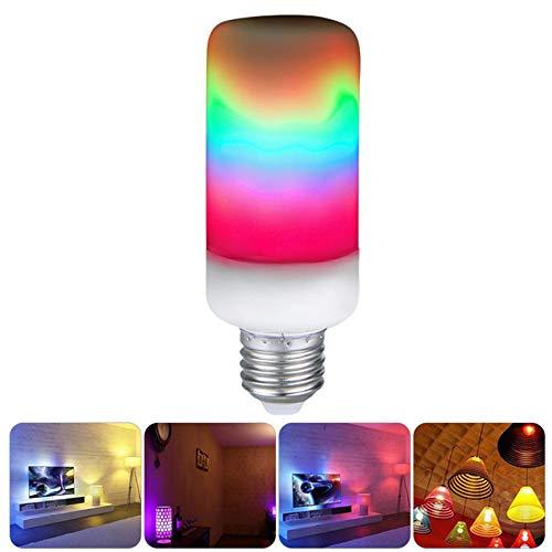 MZSG Dynamischer Flammeneffekt Glühbirne E27 LED-Maisbirne RGB-Lampen Emulation Feuer Brennen Flicker Laterne Urlaubslicht,5w
