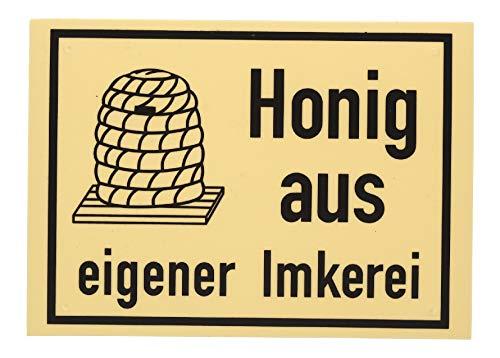 Germerott Bienentechnik Werbeschild Honig aus eigener Imkerei Größe 20 x 15 cm