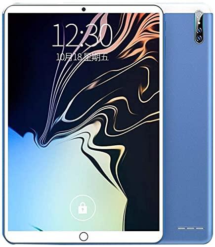 WH-ENTER Tabletas De 10 Pulgadas Tableta Portátil Ultraportátil, 6G + 128GB 1600W Pixel 10000mAh Gran Capacidad Admite Certificación gsm De Oficina En Varios Idiomas (Color : Blue, Size : 64GB)