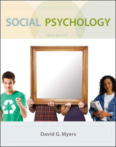 Compare Textbook Prices for Social Psychology 10th Edition ISBN 9780073370668 by David G. Myers